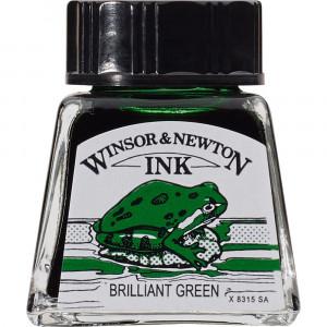 Tinta para Desenho Winsor & Newton 14ml Brilliant Green 046