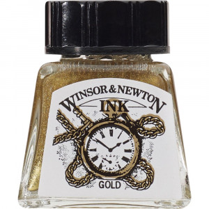 Tinta para Desenho Winsor & Newton 14ml Gold 283