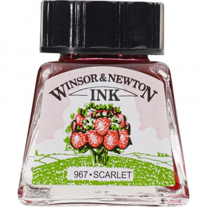 Tinta para Desenho Winsor & Newton 14ml Scarlet 601