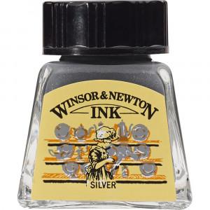 Tinta para Desenho Winsor & Newton 14ml Silver 617