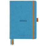 Caderno Goalbook Rhodia A5 90g 120 Folhas Pontilhado Capa Dura Turquoise