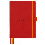 Caderno Goalbook Rhodia A5 90g 120 Folhas Pontilhado Capa Dura Poppy