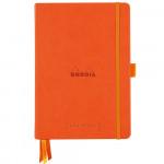 Caderno Goalbook Rhodia A5 90g 120 Folhas Pontilhado Capa Dura Tangerine