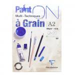 Bloco de Papel Multi-Técnica Clairefontaine Paint On 250g A2 20 Folhas Branco