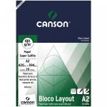Bloco de Papel Layout Canson 180g/m² A2