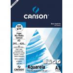 Bloco de Papel Para Aquarela Canson Mix Media A3 300g/m²