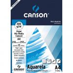 Bloco de Papel Para Aquarela Canson Mix Media A4 300g/m²