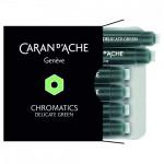 Cartucho Para Caneta Tinteiro Chromatics Caran d'Ache Delicate Green 6 Unidades