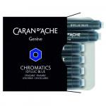 Cartucho Para Caneta Tinteiro Chromatics Caran d'Ache Idyllic Blue 6 Unidades