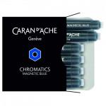 Cartucho Para Caneta Tinteiro Chromatics Caran d'Ache Magnetic Blue 6 Unidades