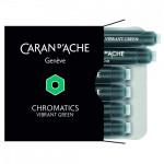 Cartucho Para Caneta Tinteiro Chromatics Caran d'Ache Vibrant Green 6 Unidades