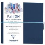 Bloco de Papel Multi-Técnica Clairefontaine Paint On 250g 19x19cm 32 Folhas Branco Granulado