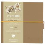 Bloco de Papel Multi-Técnica Clairefontaine Paint On 250g 19x19cm 32 Folhas Branco Natural