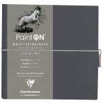 Bloco de Papel Multi-Técnica Clairefontaine Paint On 250g 19x19cm 32 Folhas Cinza