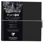 Bloco de Papel Multi-Técnica Clairefontaine Paint On 250g 19x19cm 32 Folhas Negro