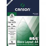 Bloco de Papel Layout Canson 180g/m² A4