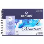 Bloco de Papel Para Aquarela Montval Canson A5 300g/m² Com Espiral