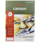 Pochette C à Grain Canson A3 29,7X42cm 220g/m² 8 Folhas