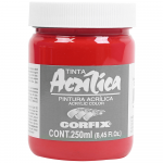 Tinta Acrílica Corfix 250ml 129 Vermelho Cádmio G1