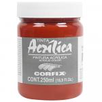 Tinta Acrílica Corfix 250ml 166 Vermelho Veneza G1