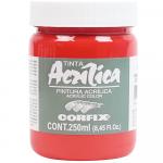 Tinta Acrílica Corfix 250ml 56 Vermelho Francês G1