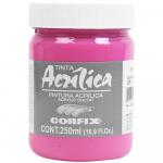 Tinta Acrílica Corfix 250ml 61 Laca Rosa G1