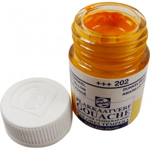 Tinta Guache Para Caligrafia Talens 16ml 202 Deep Yellow