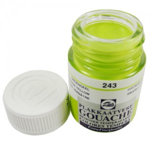 Tinta Guache Para Caligrafia Talens 16ml 243 Green Yellow