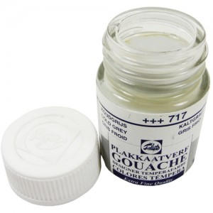 Tinta Guache Para Caligrafia Talens 16ml 717 Cold Grey