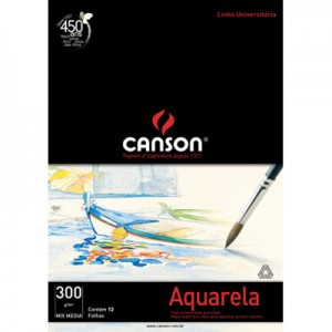Bloco de Papel Para Aquarela Canson Mix Media A4 300g/m²