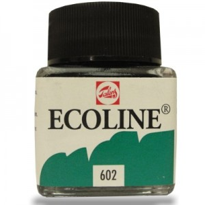 Aquarela Líquida Ecoline Talens 30ml 602 Deep Green