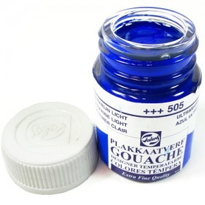 Tinta Guache Para Caligrafia Talens 16ml 505 Ultramarine Light
