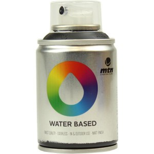 Tinta Spray Acrílico MTN Water Based RV-9011 Carbon Black