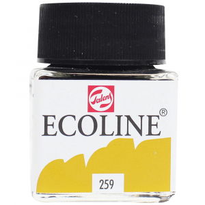 Aquarela Líquida Ecoline Talens 30ml 259 Sand Yellow