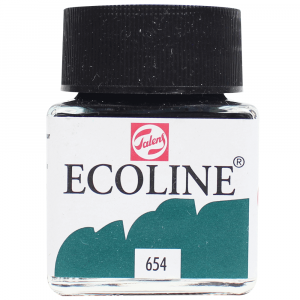 Aquarela Líquida Ecoline Talens 30ml 654 Fir green