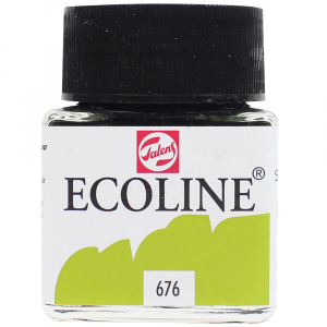 Aquarela Líquida Ecoline Talens 30ml 676 Grass Green