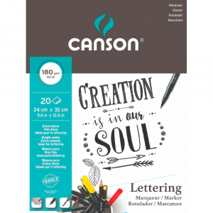 Bloco Para Lettering Canson Marker A4 180g/m² 20 Folhas