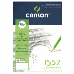 Bloco de Papel Sketchbook Canson 1557 A5 120g/m²