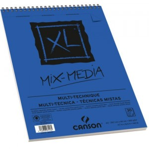 Bloco de Papel Canson XL Mix Media Multi-Técnica 300g/m² A4