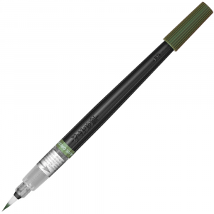 Caneta Pincel Aquarela Color Brush Pentel Olive Green 115