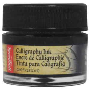 Tinta Para Caligrafia 12ml Speedball 3100 Preto
