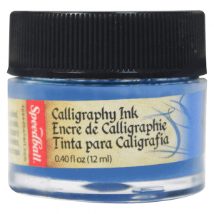 Tinta Para Caligrafia 12ml Speedball 3102 Azul Índigo