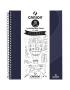 Caderno Para Desenho Canson A4 40 Folhas - Azul