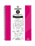 Caderno Para Desenho Canson A4 40 Folhas - Rosa