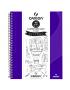 Caderno Para Desenho Canson A4 40 Folhas - Roxo