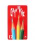 Lápis Aquarelável RED Caran D'Ache 12 Cores