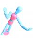 Manequim Articulado 30cm Color Azul e Rosa