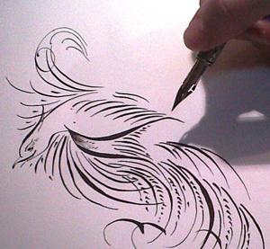 Arte com Pena Caligráfica