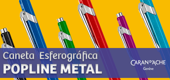 Caneta Esferográfica Caran D'Ache Pop Metal