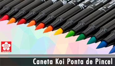 Caneta KOI Ponta Pincel